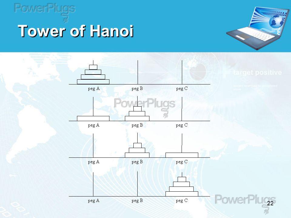 22 Tower of Hanoi