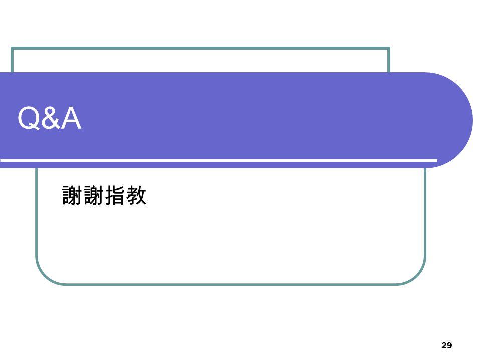 29 Q&A 謝謝指教