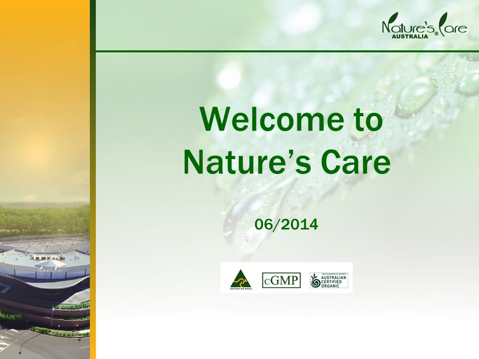 Welcome to Nature's Care 06/2014