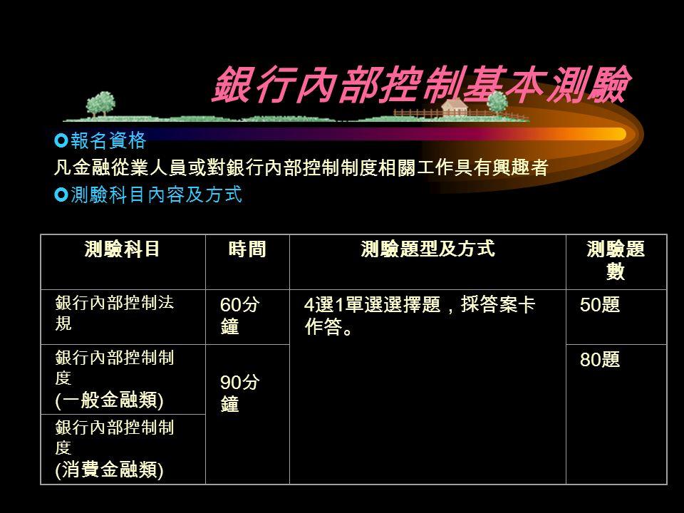 主辦單位 : 台灣金融研訓院 售書服務專線: 02-28741616-223 、 224 證照測驗服務專線: 02-28741616-666 網址 : http://www.tabf.org.tw/tw/