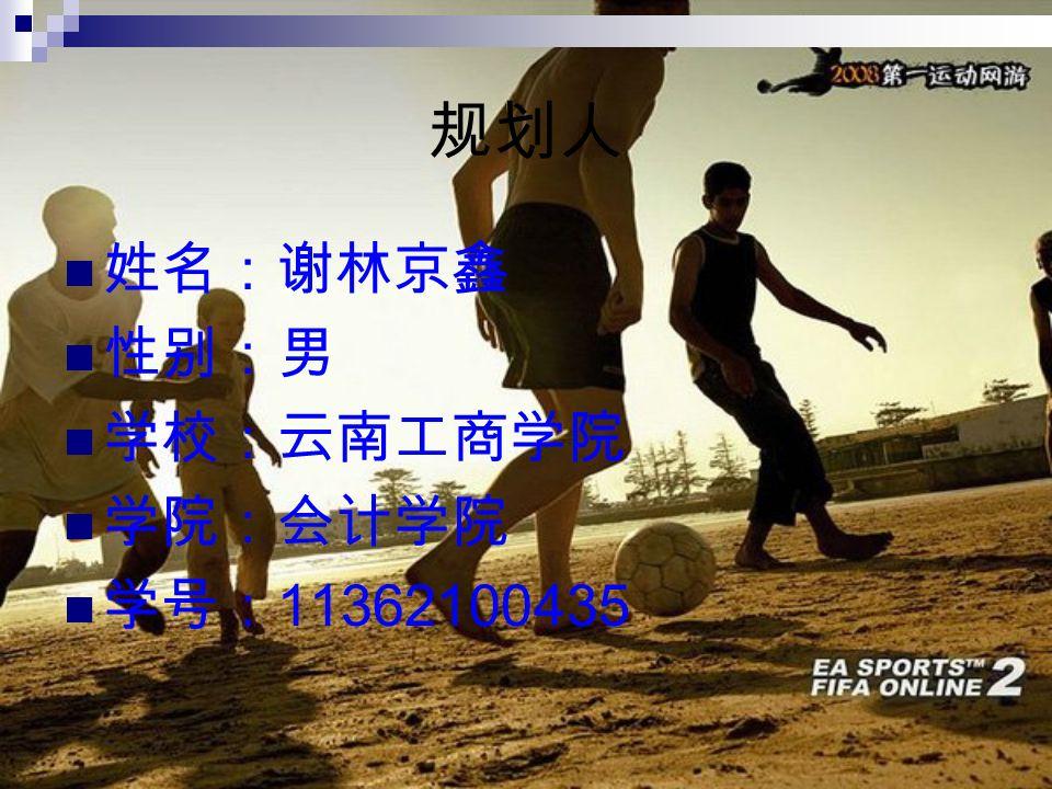 规划人 姓名:谢林京鑫 性别:男 学校:云南工商学院 学院:会计学院 学号: 11362100435