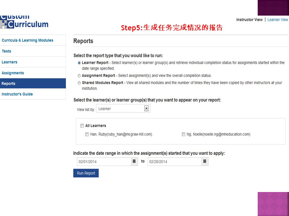 Step5: 生成任务完成情况的报告