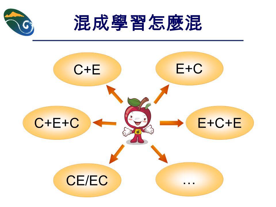 混成學習怎麼混 C+E E+C C+E+CE+C+E CE/EC …