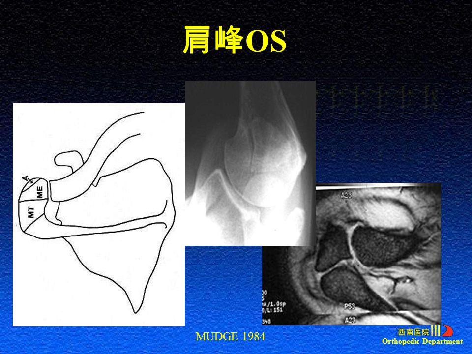 Orthopedic Department 肩峰 OS MUDGE 1984