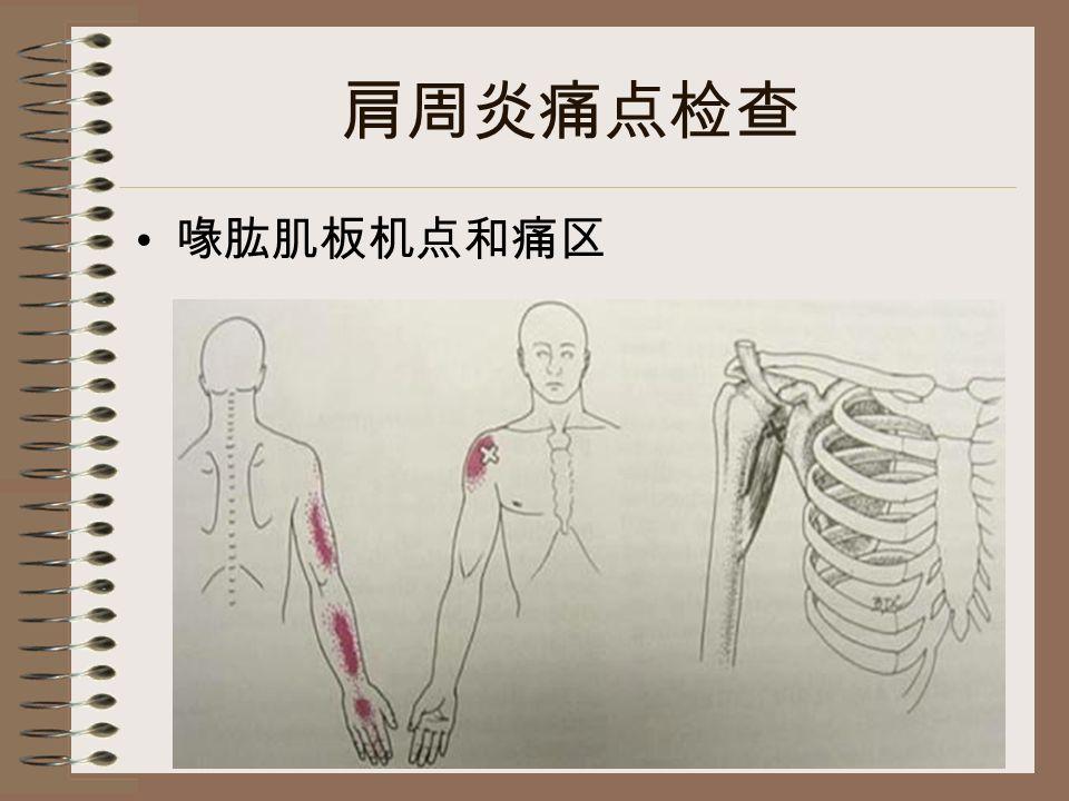 肩周炎痛点检查 喙肱肌板机点和痛区