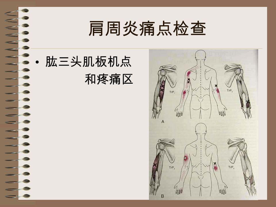 肩周炎痛点检查 肱三头肌板机点 和疼痛区