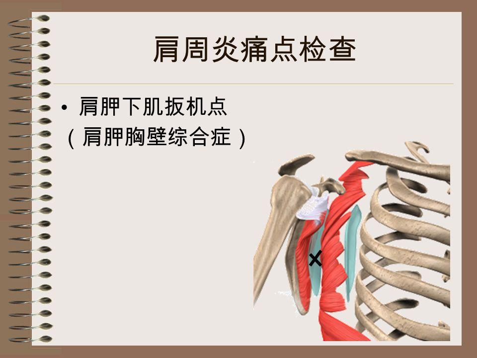 肩周炎痛点检查 肩胛下肌扳机点 (肩胛胸壁综合症)