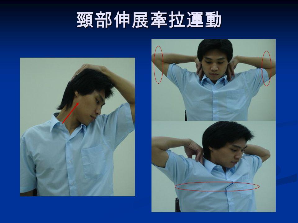 頸部按摩 ( 四 ) 用對側手的中指、 食指、無名指,按 摩以下各部位 用對側手的中指、 食指、無名指,按 摩以下各部位 肩胛内側 ( 膏肓穴 ) 肩胛内側 ( 膏肓穴 ) 腋下 腋下 肩胛骨與手臂的中 點 肩胛骨與手臂的中 點