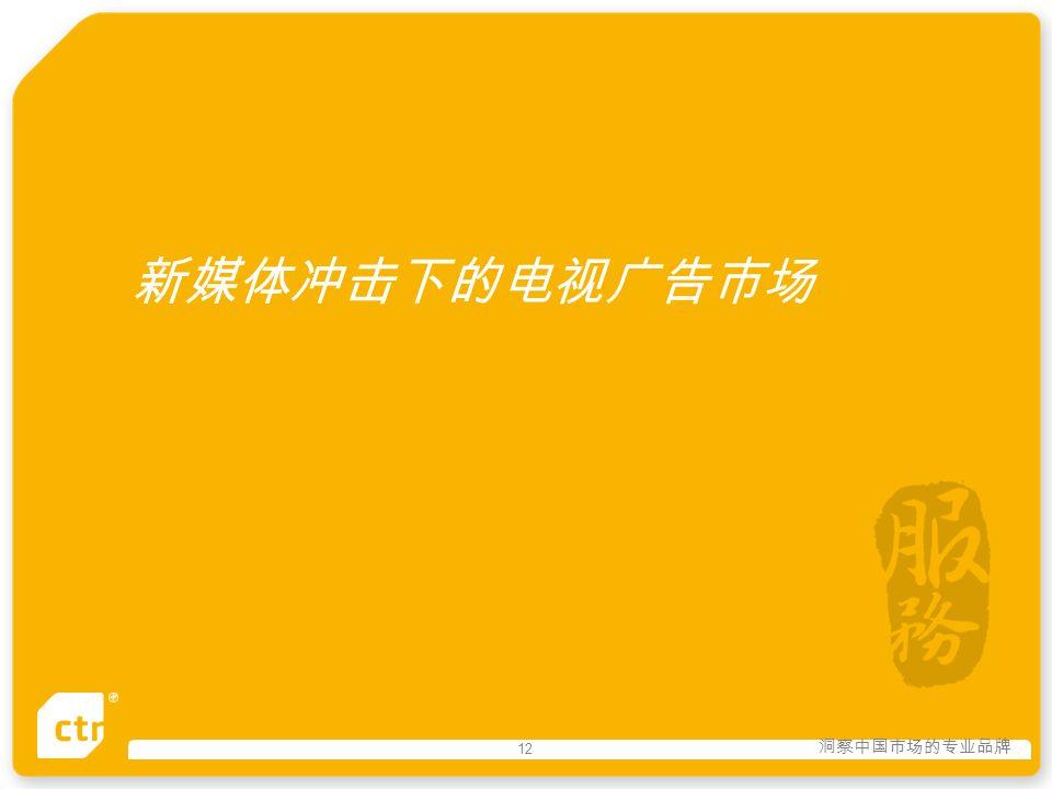 洞察中国市场的专业品牌 12 新媒体冲击下的电视广告市场