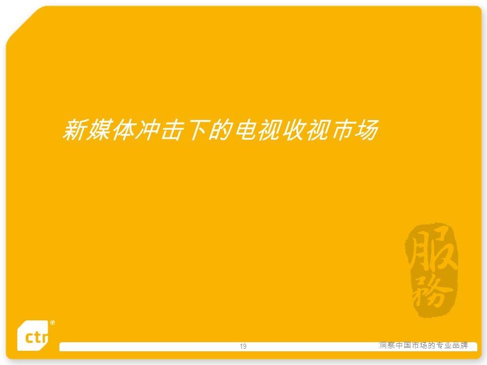 洞察中国市场的专业品牌 19 新媒体冲击下的电视收视市场