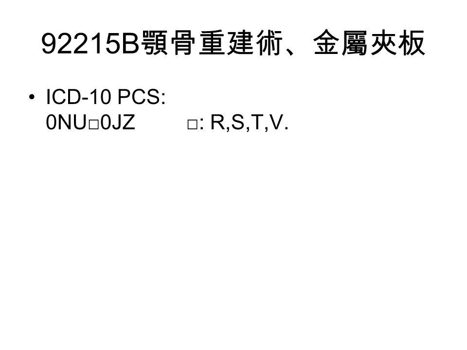 ICD-10 PCS: 0NU□0JZ □: R,S,T,V.
