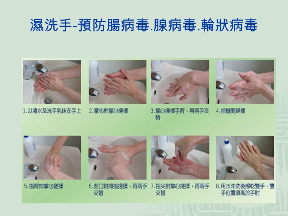 濕洗手 - 預防腸病毒. 腺病毒. 輪狀病毒