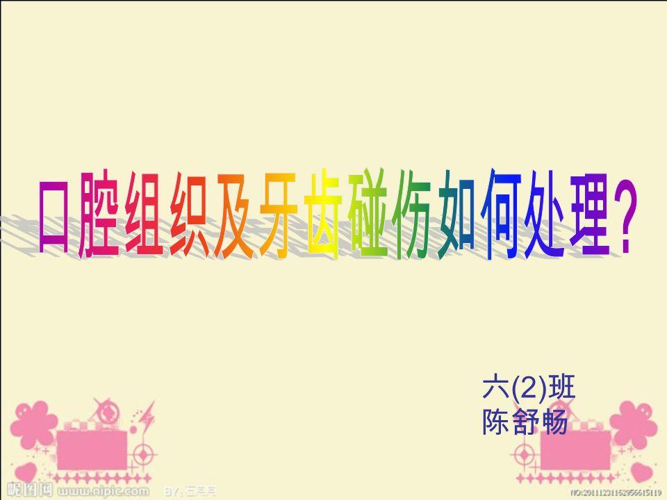 六 (2) 班 陈舒畅