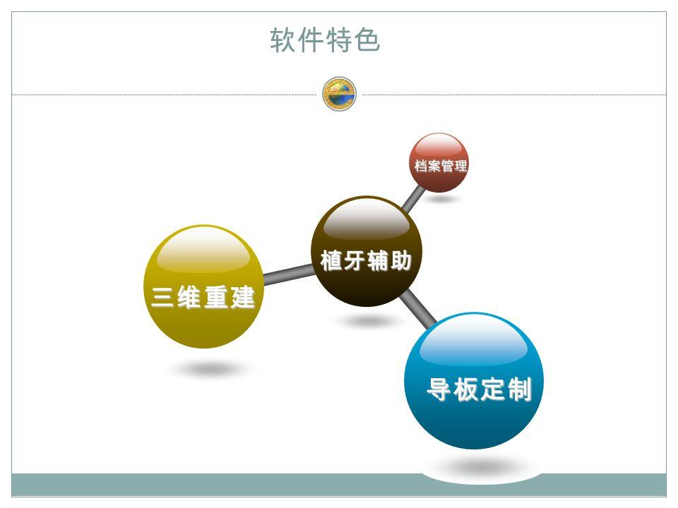 软件特色 植牙辅助 档案管理 三维重建 导板定制