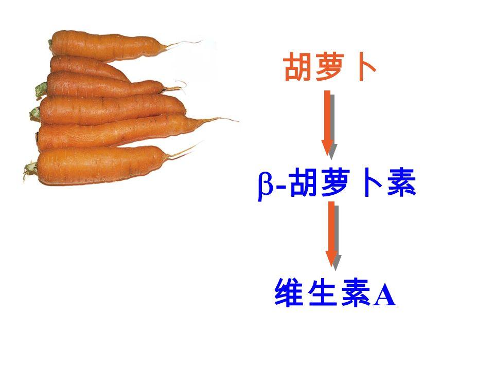 胡萝卜  - 胡萝卜素 维生素 A
