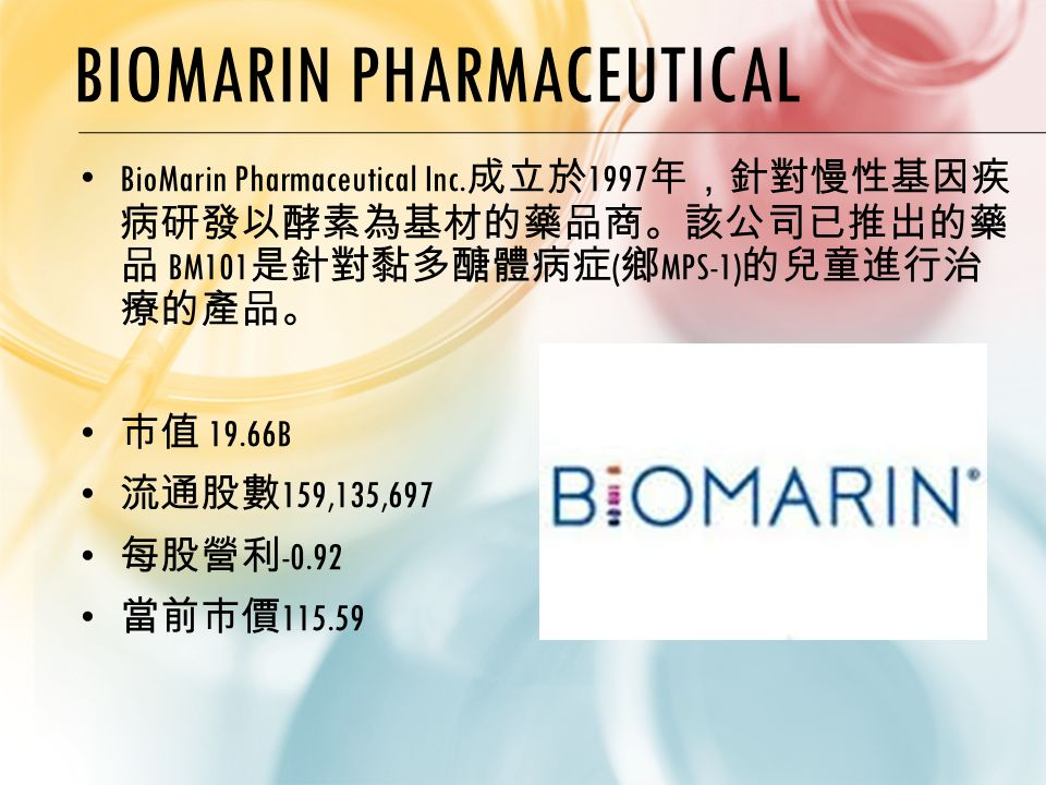 BIOMARIN PHARMACEUTICAL BioMarin Pharmaceutical Inc.