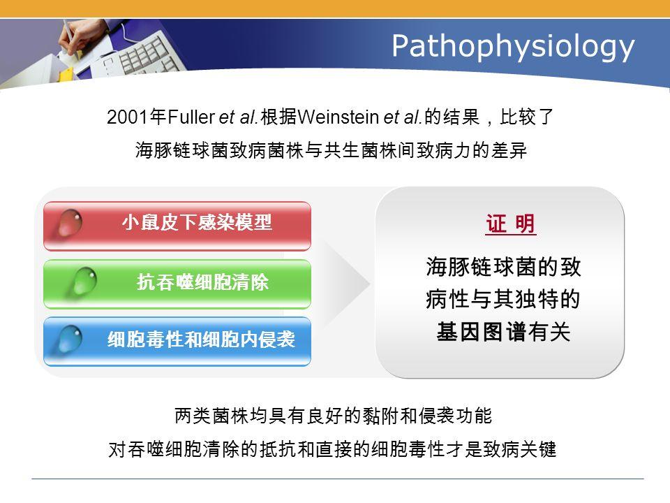Pathophysiology 2001 年 Fuller et al. 根据 Weinstein et al.