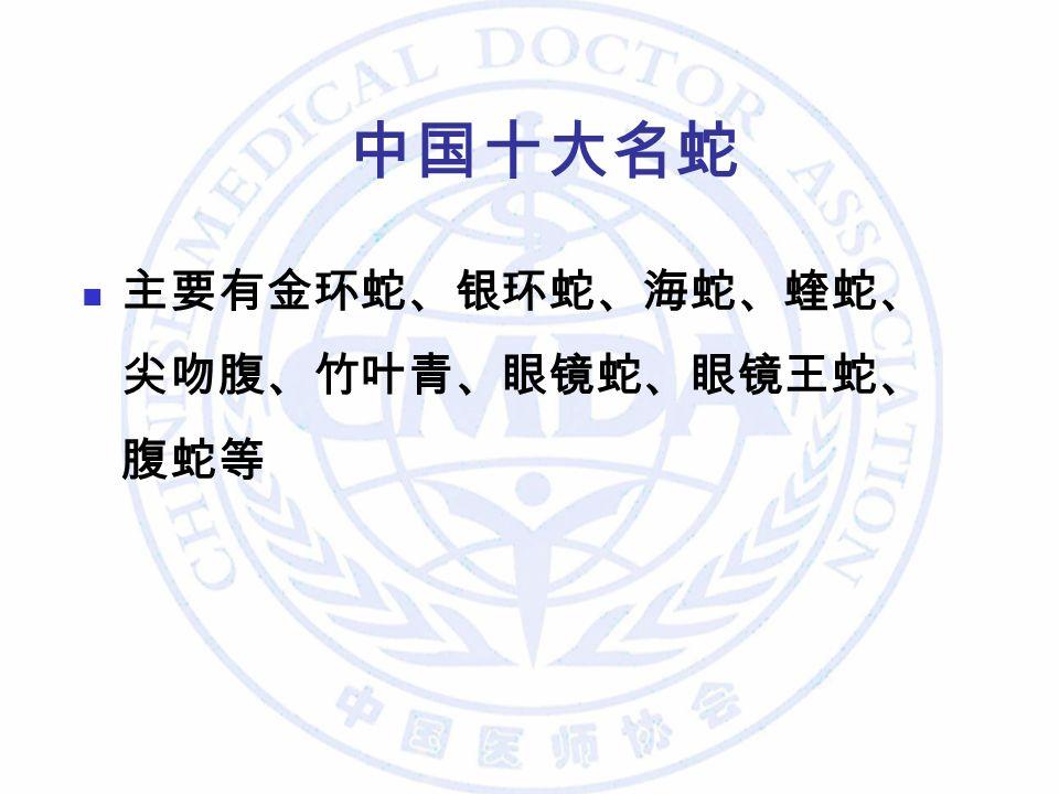 中国十大名蛇 主要有金环蛇、银环蛇、海蛇、蝰蛇、 尖吻腹、竹叶青、眼镜蛇、眼镜王蛇、 腹蛇等
