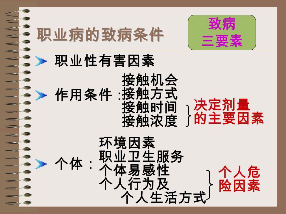 法定职业病的范围和种类: 职业性传染病 (生物性职业病)