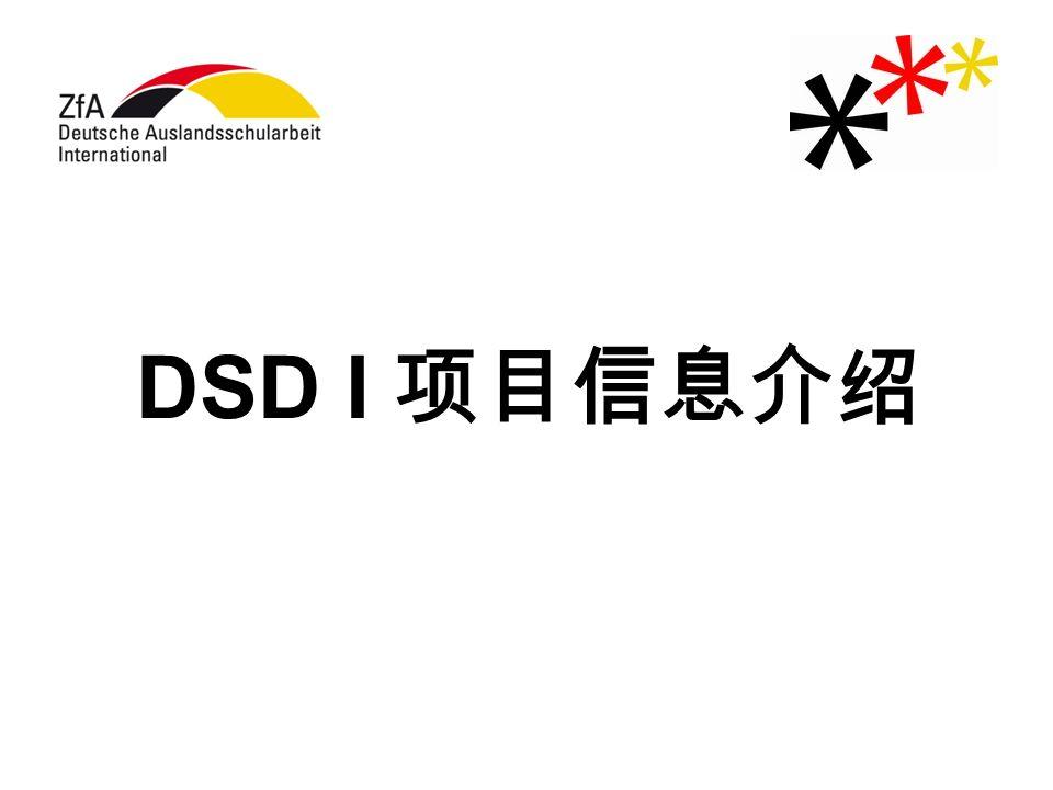 DSD I 项目信息介绍