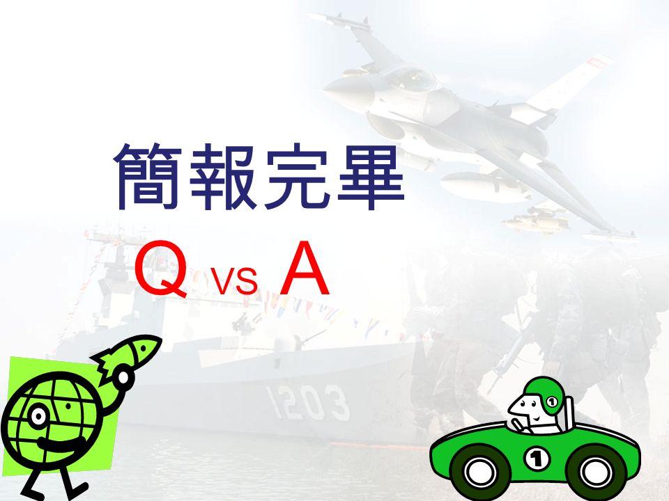 簡報完畢 Q VS A