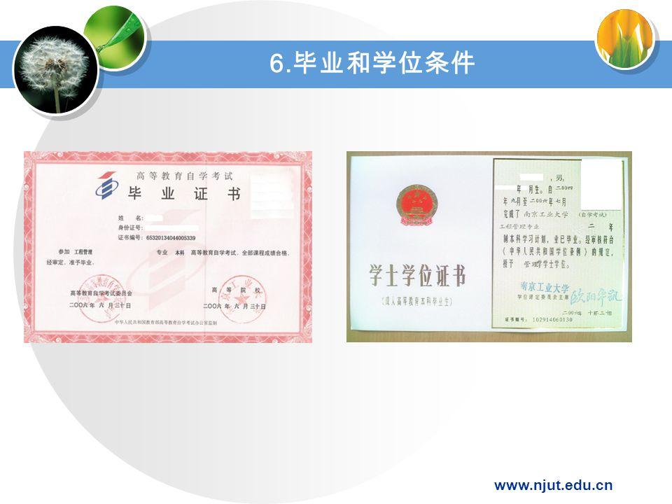 www.njut.edu.cn 6. 毕业和学位条件
