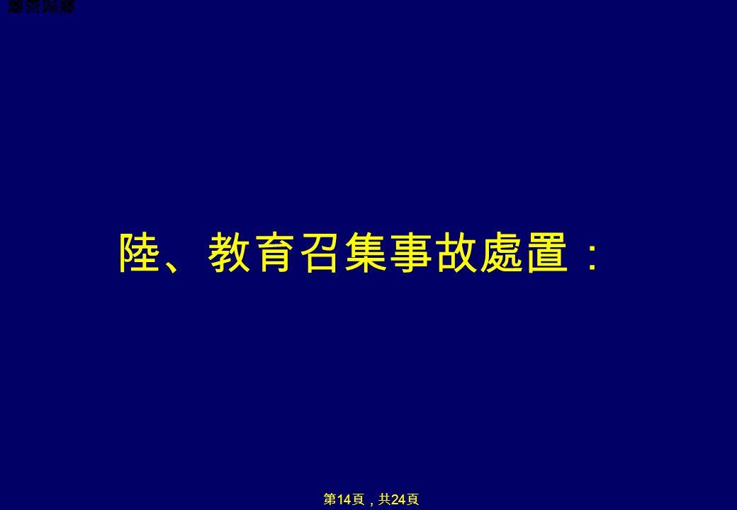 離營歸鄉 陸、教育召集事故處置: 第 14 頁,共 24 頁