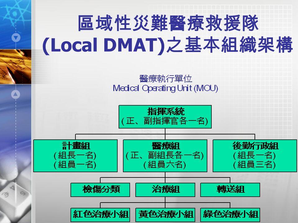 區域性災難醫療救援隊 (Local DMAT) 之基本組織架構