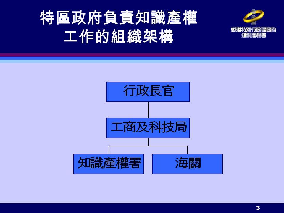 3 特區政府負責知識產權 工作的組織架構
