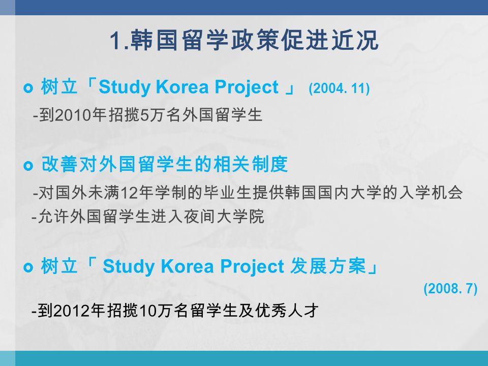  树立「 Study Korea Project 」 (2004.