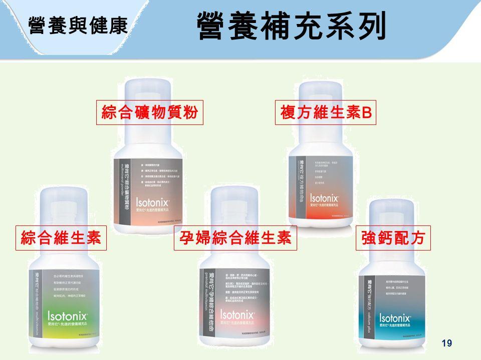 19 營養與健康 營養補充系列 綜合維生素孕婦綜合維生素 綜合礦物質粉複方維生素 B 強鈣配方