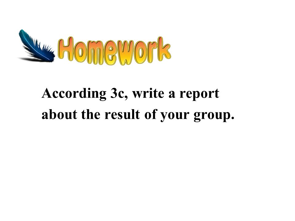 According 3c, write a report about the result of your group.