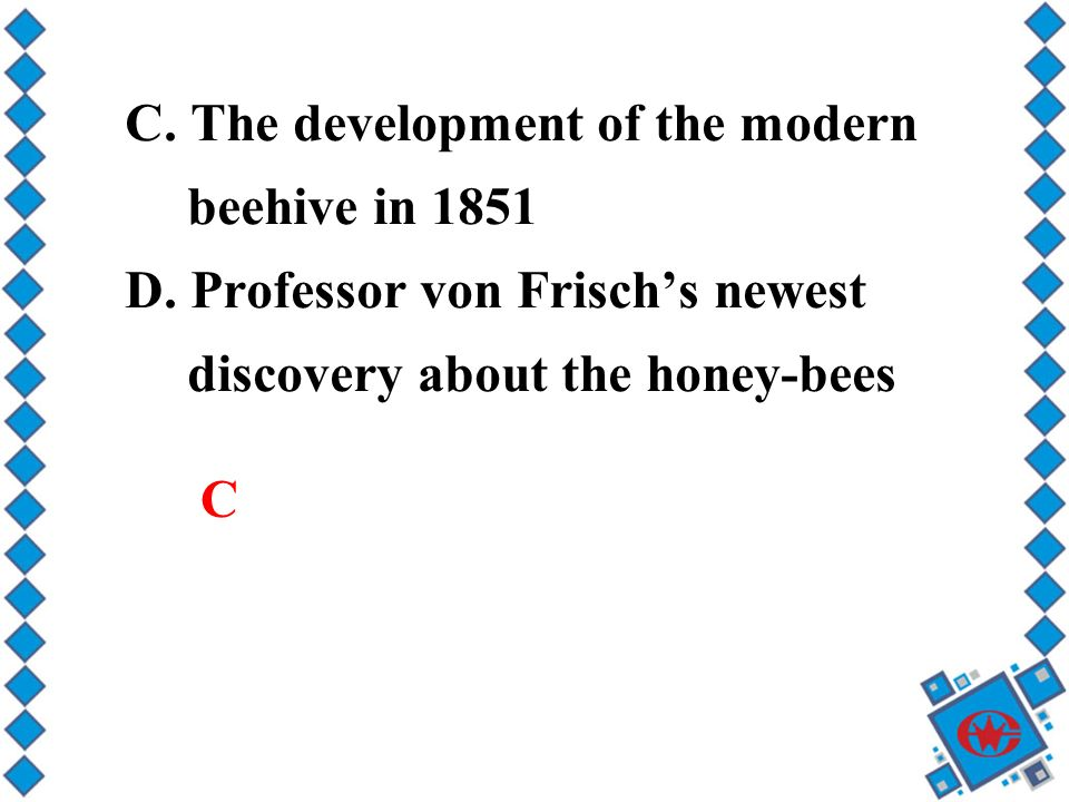 C. The development of the modern beehive in 1851 D.