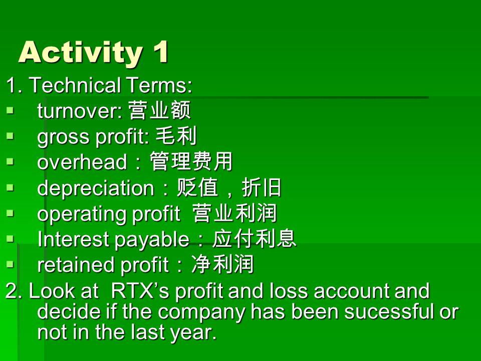 Activity 1 1.