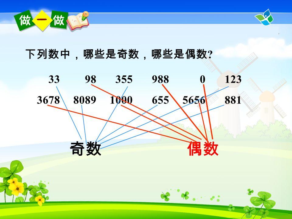 个位上是 : 自然数中,是 2 的倍数的数叫做偶数 ( 0 也是 偶数 ) ,不是 2 的倍数的数叫做奇( j ī ) 数。 0,2,4,6,80,2,4,6,8 你发现 2 的倍数有什么特征吗 .