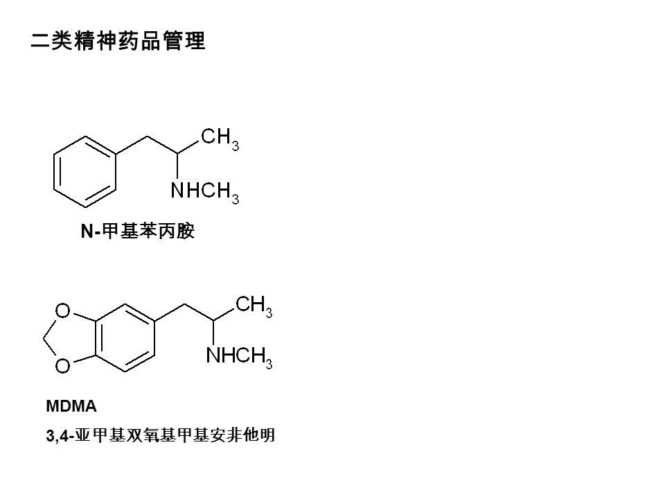 N- 甲基苯丙胺 MDMA 3,4- 亚甲基双氧基甲基安非他明 二类精神药品管理