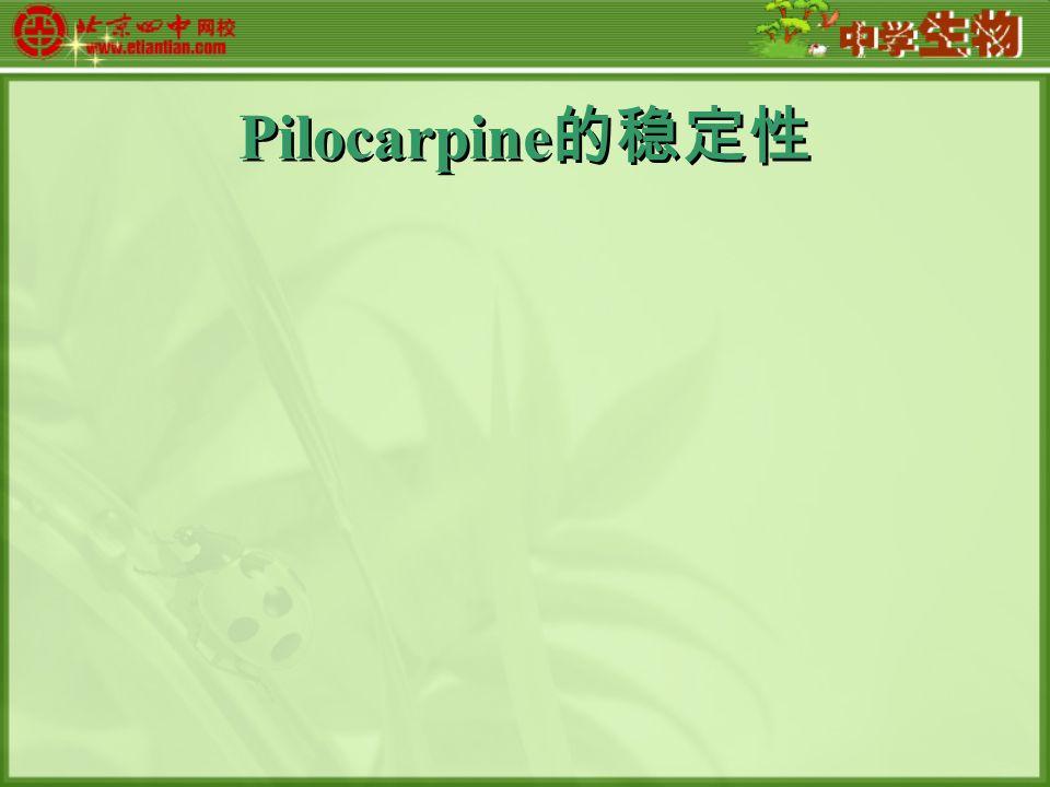 Pilocarpine 的稳定性