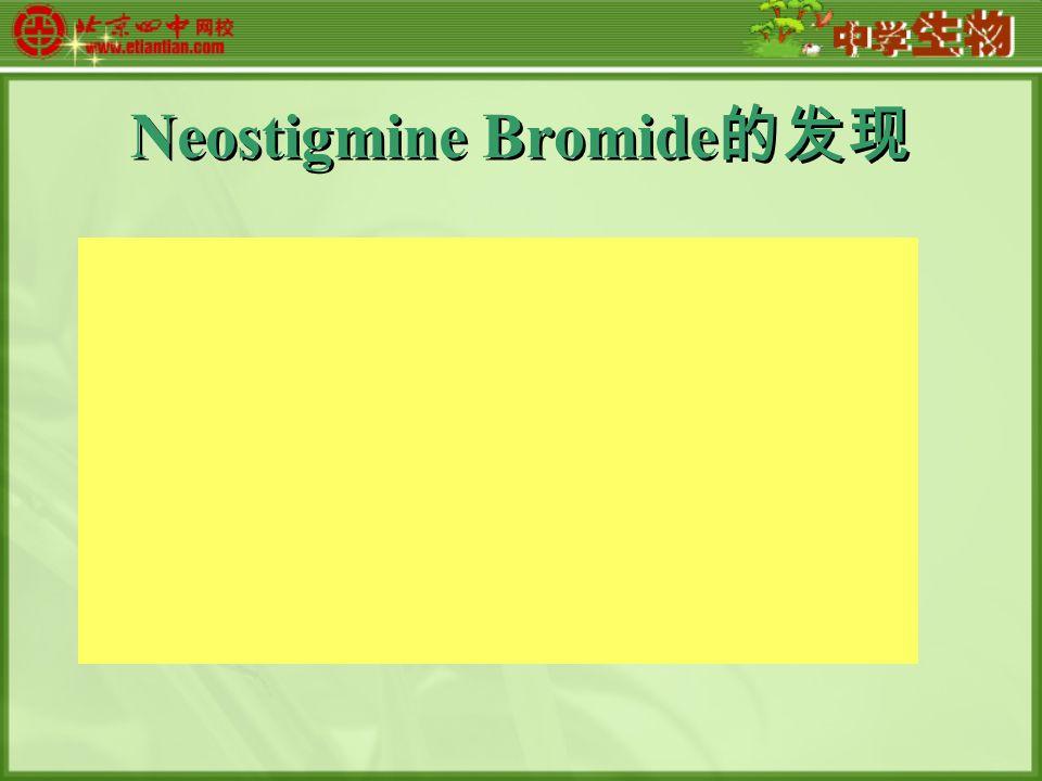 Neostigmine Bromide 的发现