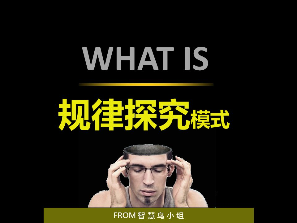WHAT IS 规律探究 模式 FROM 智 慧 鸟 小 组