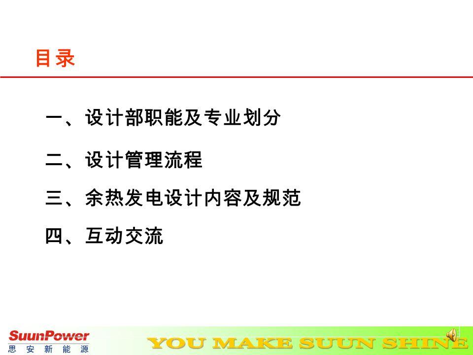新员工培训 ------ 设计部 思安新能源股份有限公司 主讲人: 韩少华 时 间: 2012.07.19