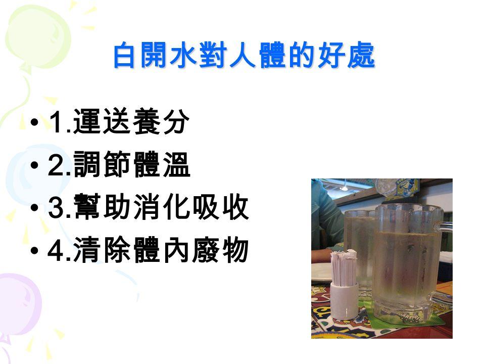 白開水的優點與攝取量