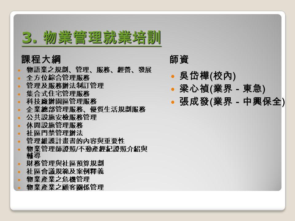 3. 物業管理就業培訓 3.