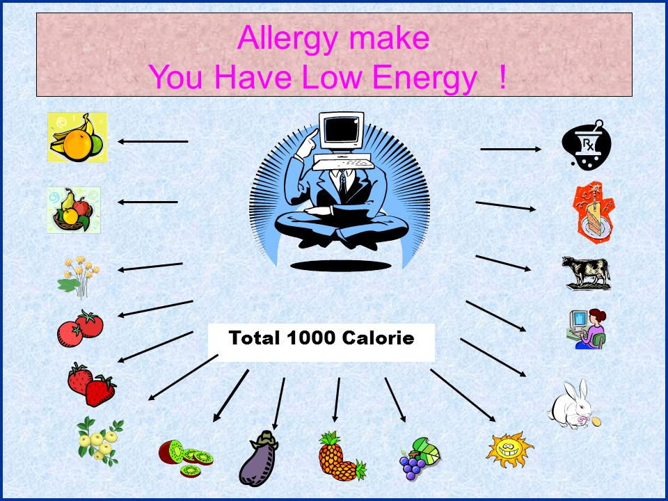 11 Total 1000 Calorie Allergy make You Have Low Energy !