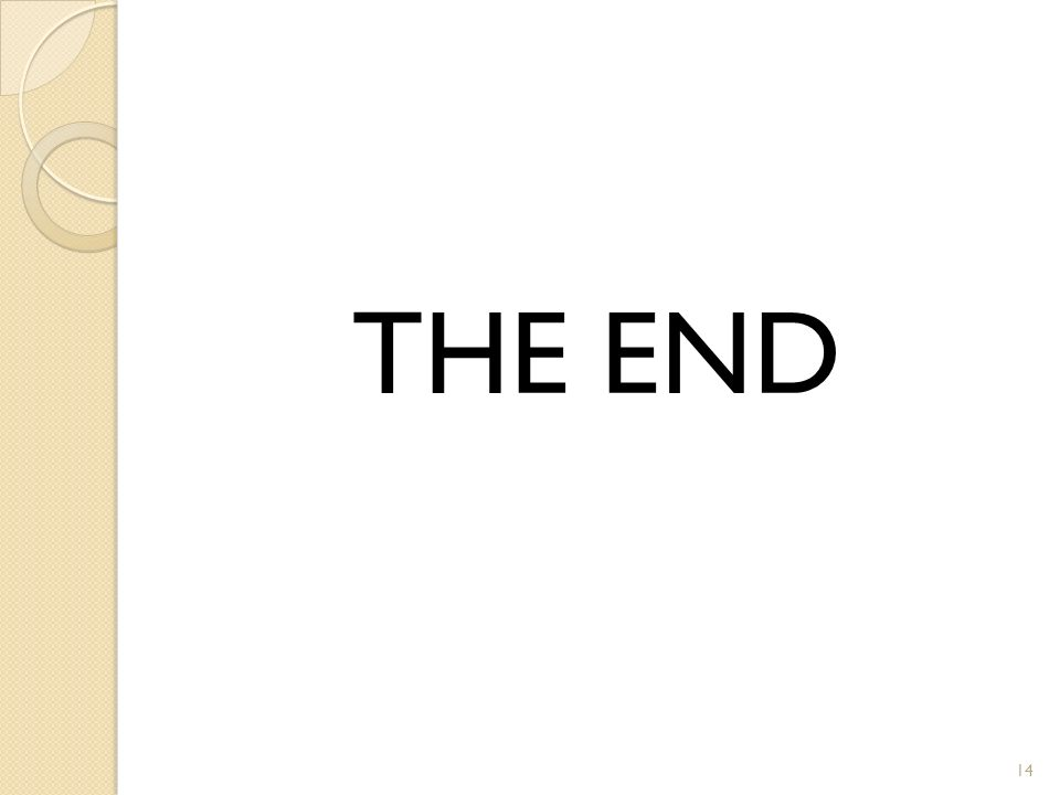 THE END 14