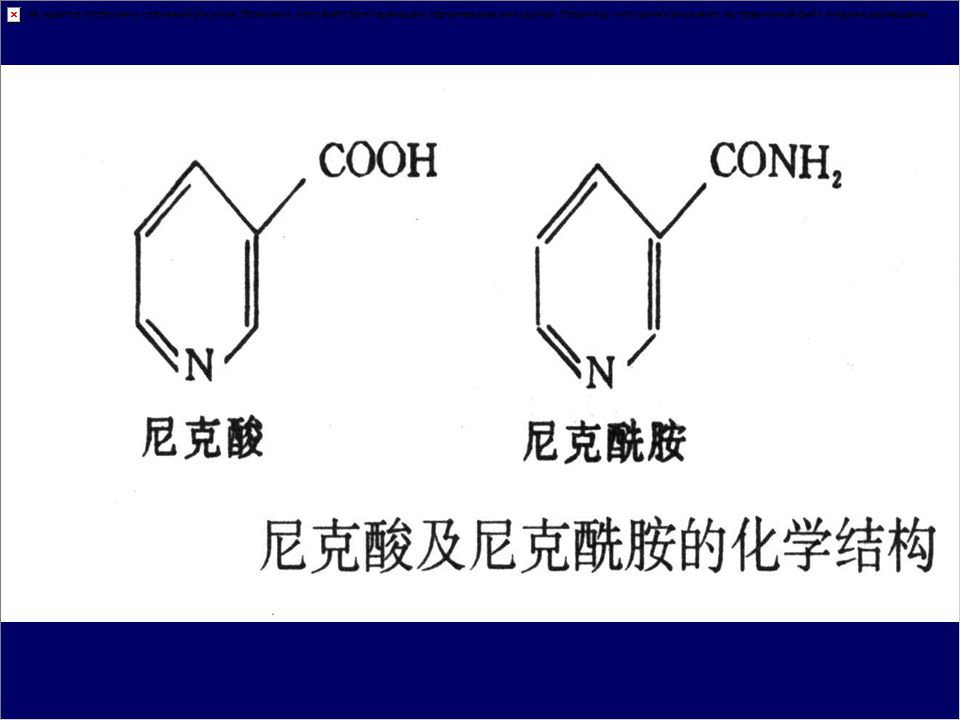 三、 vitamine B 3 1 、 name : nicotin acid, nicotinamide Vitamine PP 2 、 chemical structure & functional group monocarboxylicc acid derivative of pyridine
