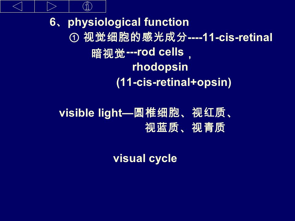 4 、 transform NADP NADPH Retinol retinal retinoic acid 5 、 active form