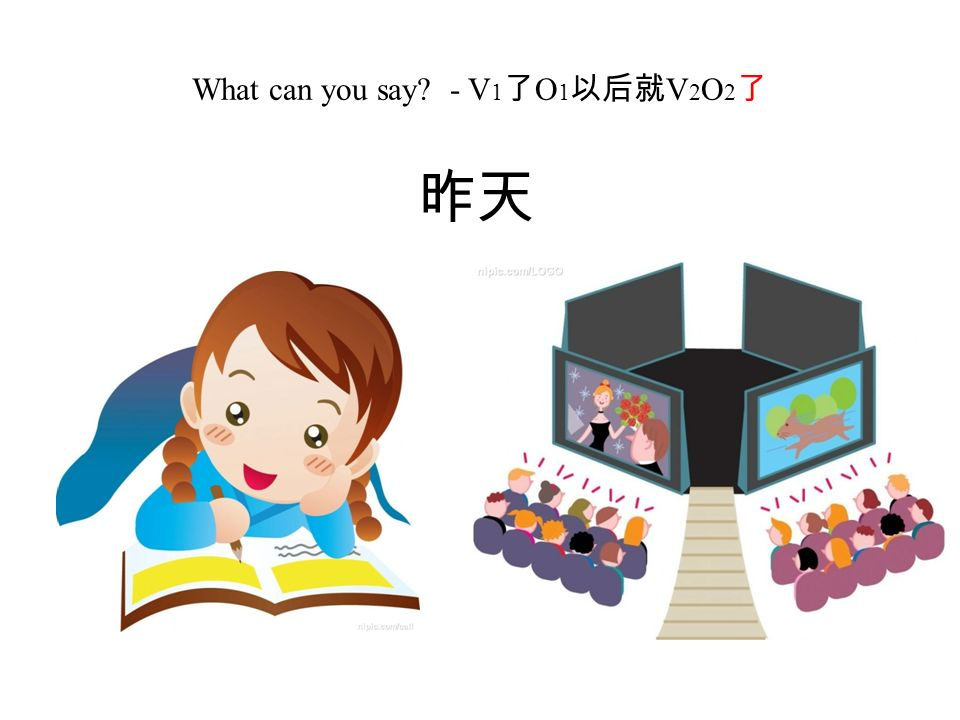 What can you say - V 1 了 O 1 以后就 V 2 O 2 了 昨天