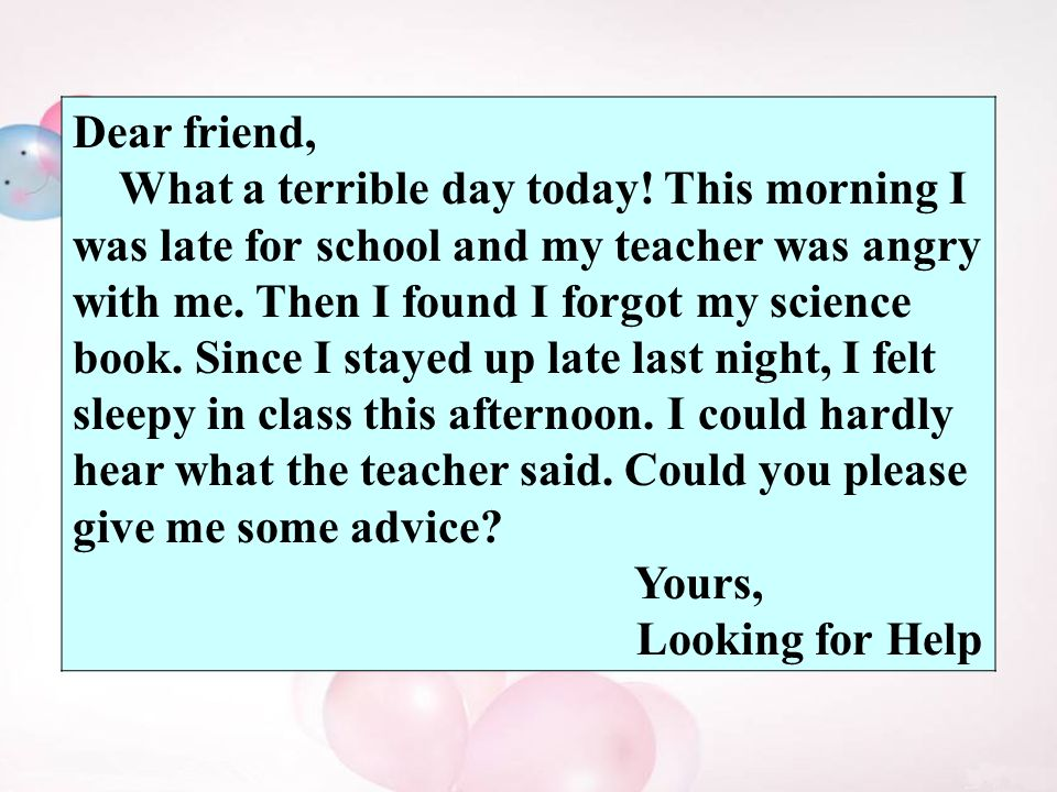 Dear friend, What a terrible day today.